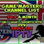 Game Masters IPTV Channel List
