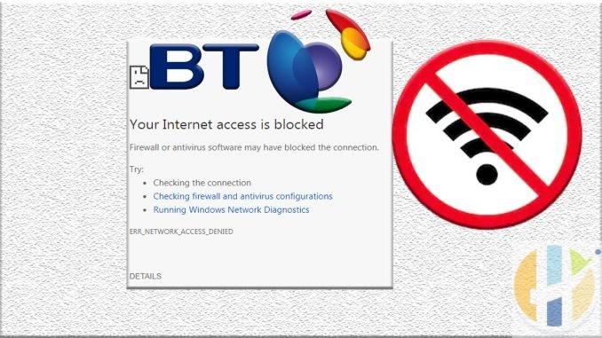 BT Blocked Internet Blocked NO Stream Avaliable