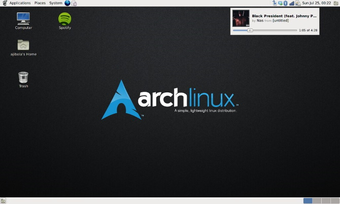 Arch Linux is a lightweight Linux OS