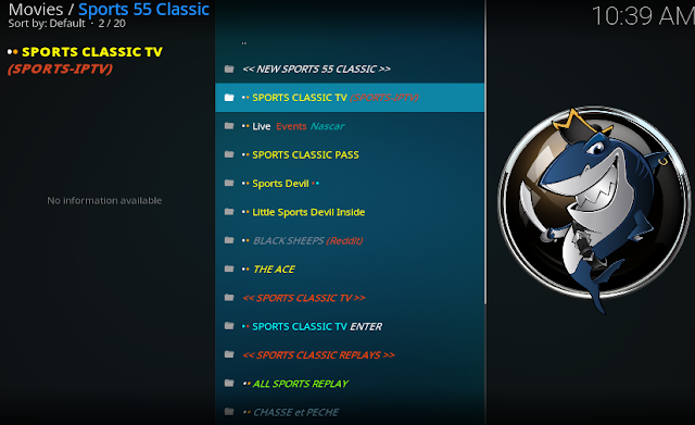 how to install sports 55 classic addon kodi