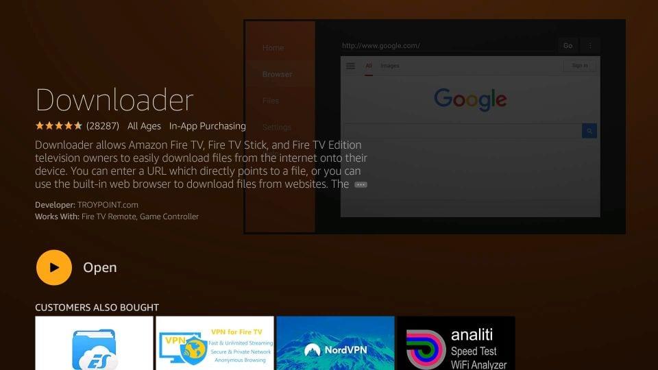 installing downloader for adding apps on fire tv stick