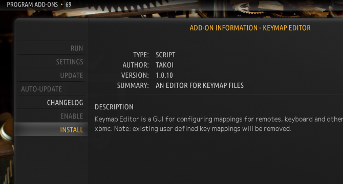 Edit keymap files to customize Kodi keyboard shortcuts