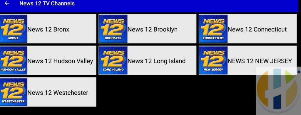 News12 APK IPTV Channels listing