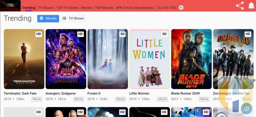 Freemovies360 APK Movies Android Smartphones NVIDIA Shield