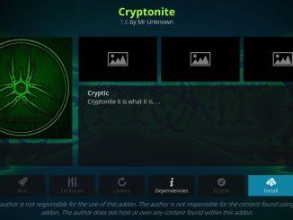 How to install Cryptonite addon on kodi