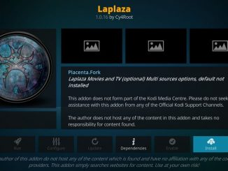 How to install laplaza addon on kodi