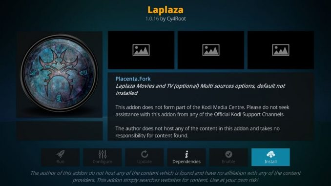 How to install laplaza addon on kodi
