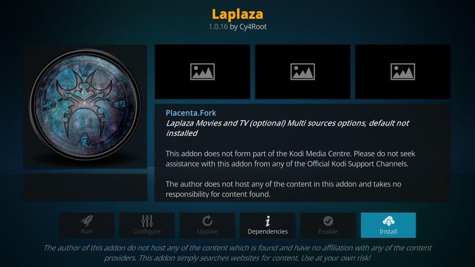 how to install laplaza kodi addon