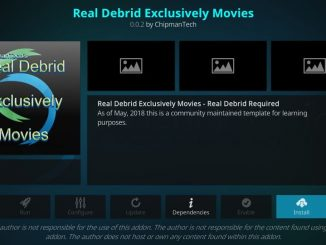 How to install Real debrid exclusively movies addon on kodi