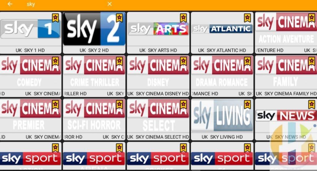Kshaw Streaming SKY TV CHANNELS