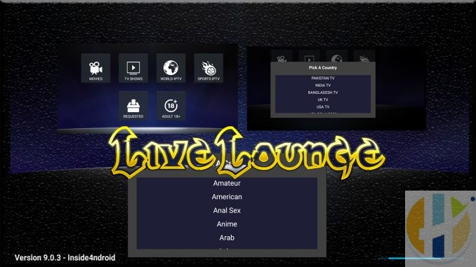 Live Lounge APK Latest Movies Adult IPTV All in one APK