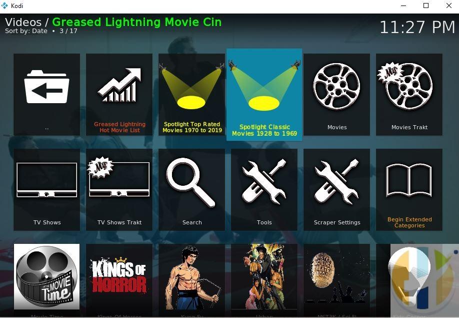 Grease Lightning Kodi Addon