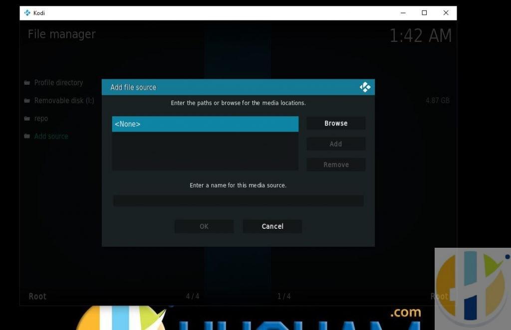KODI File Source Click None