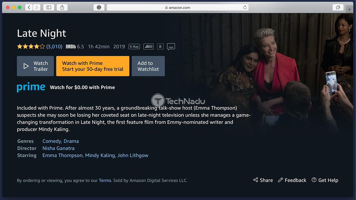 Prime Video Synopsis Late Night