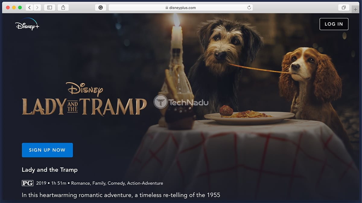 Disney Plus Synopsis Lady and the Tramp