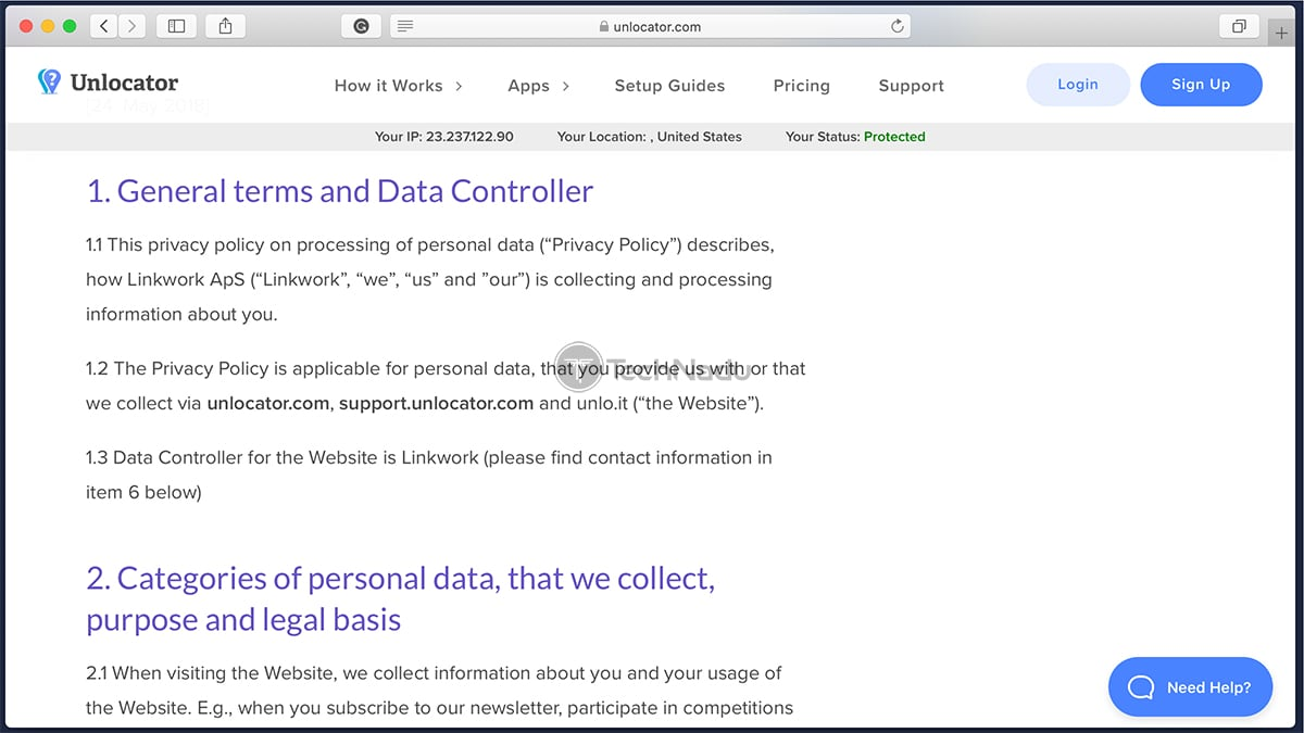 Unlocator Privacy Policy