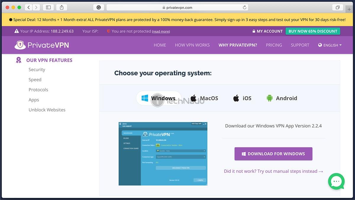 PrivateVPN Supported Platforms