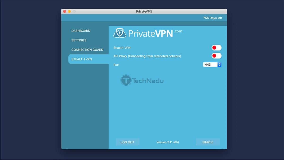 PrivateVPN StealthVPN Preferences