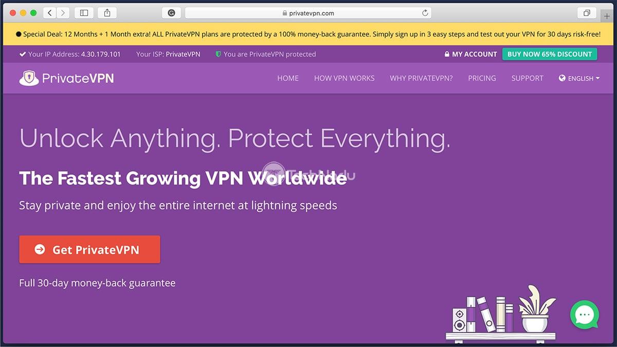 Link to PrivateVPN Homepage Website
