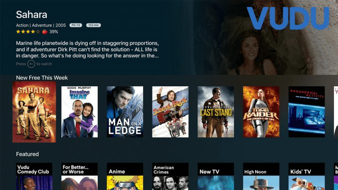 VUDU Streaming Service Interface