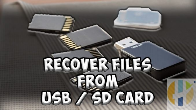 Recovery software to Recover Files from USB SD Card