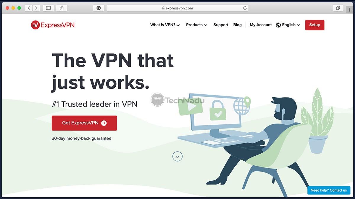 Link to ExpressVPN Homepage