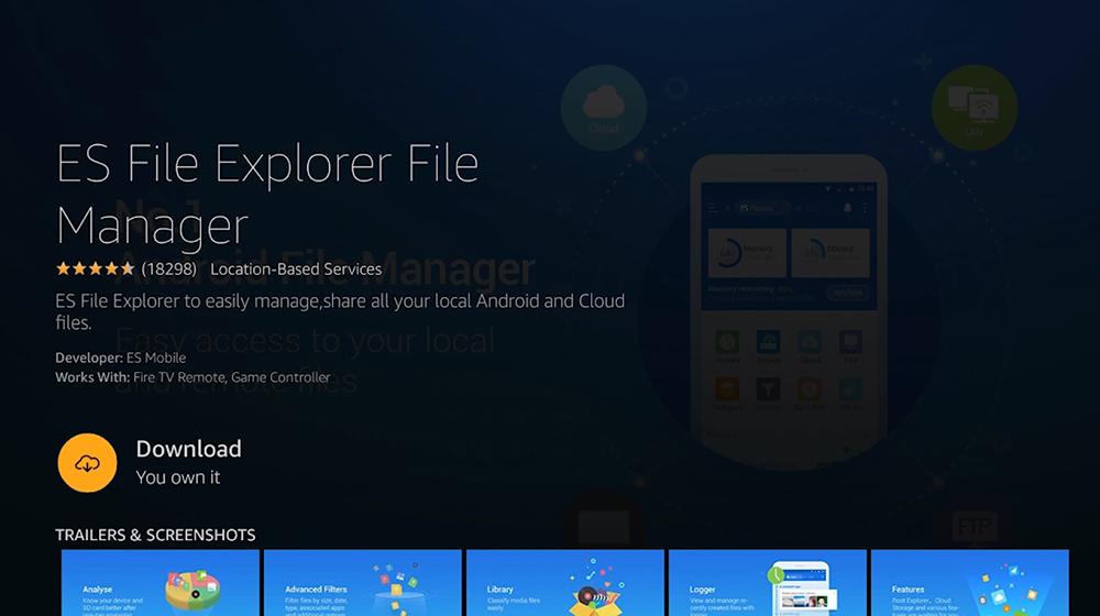 ES File Explorer FireOS Download