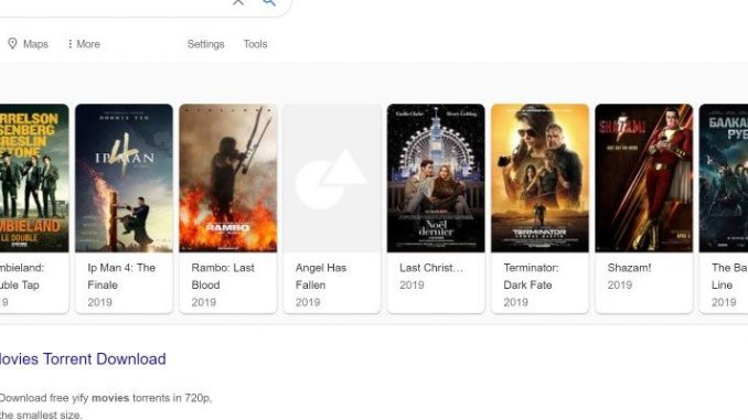Google 'Showcases' YTS and YIFY Movie Releases in Search Results