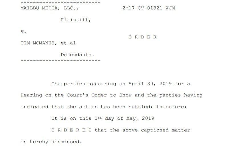 case settled