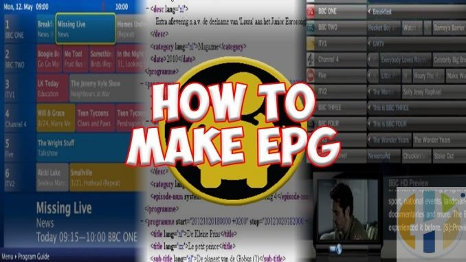 how to make EPG