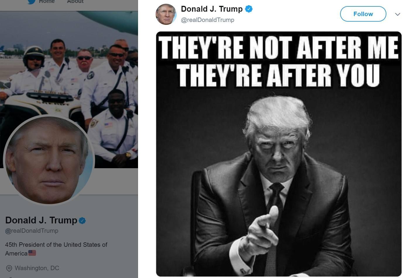 trump deleted tweet