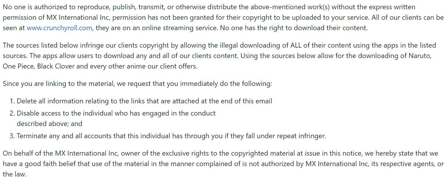 Crunchyroll Downloader Complaint