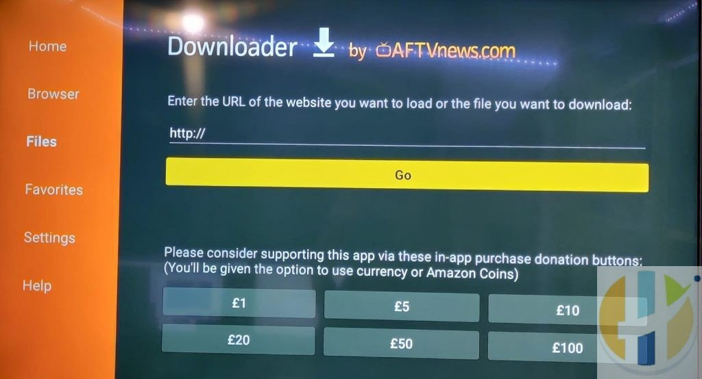 Downloader on the Amazon firestick