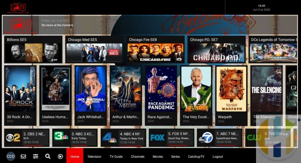 LikeTV IPTV Firestick Front Screen