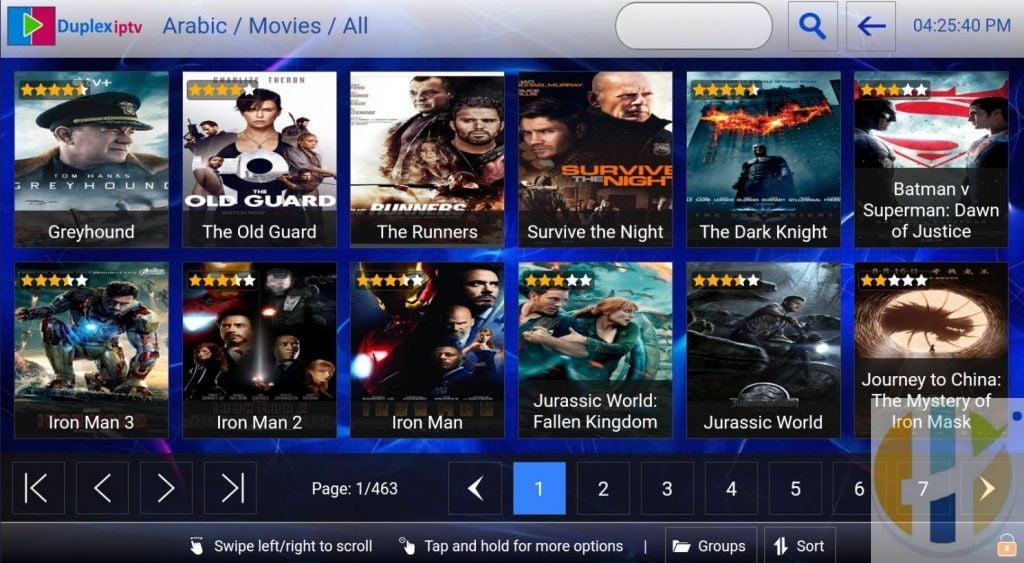 duplex iptv player movies