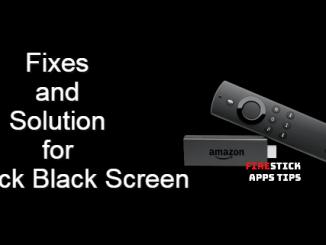 Firestick Black Screen
