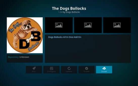 install - Dogs Bollocks on Kodi