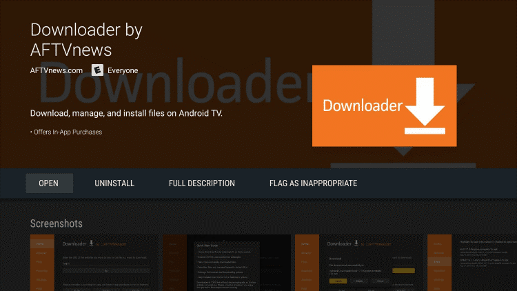 Launch the Downloader app